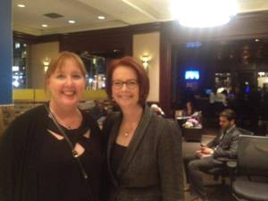 Jenny Aitchison and Julia Gillard