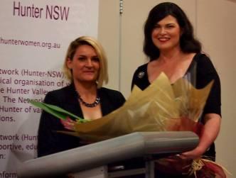 2015 Scholarship Award Winner Keely Gawthrop with Network president Nada Vujat